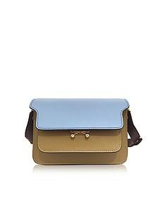 Opal, Mustard and Burgundy Saffiano Leather Mini Trunk Bag - Marni
