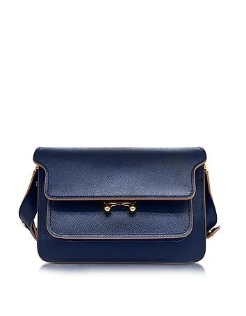 Marni - Night Blue Saffiano Leather Medium Trunk Bag