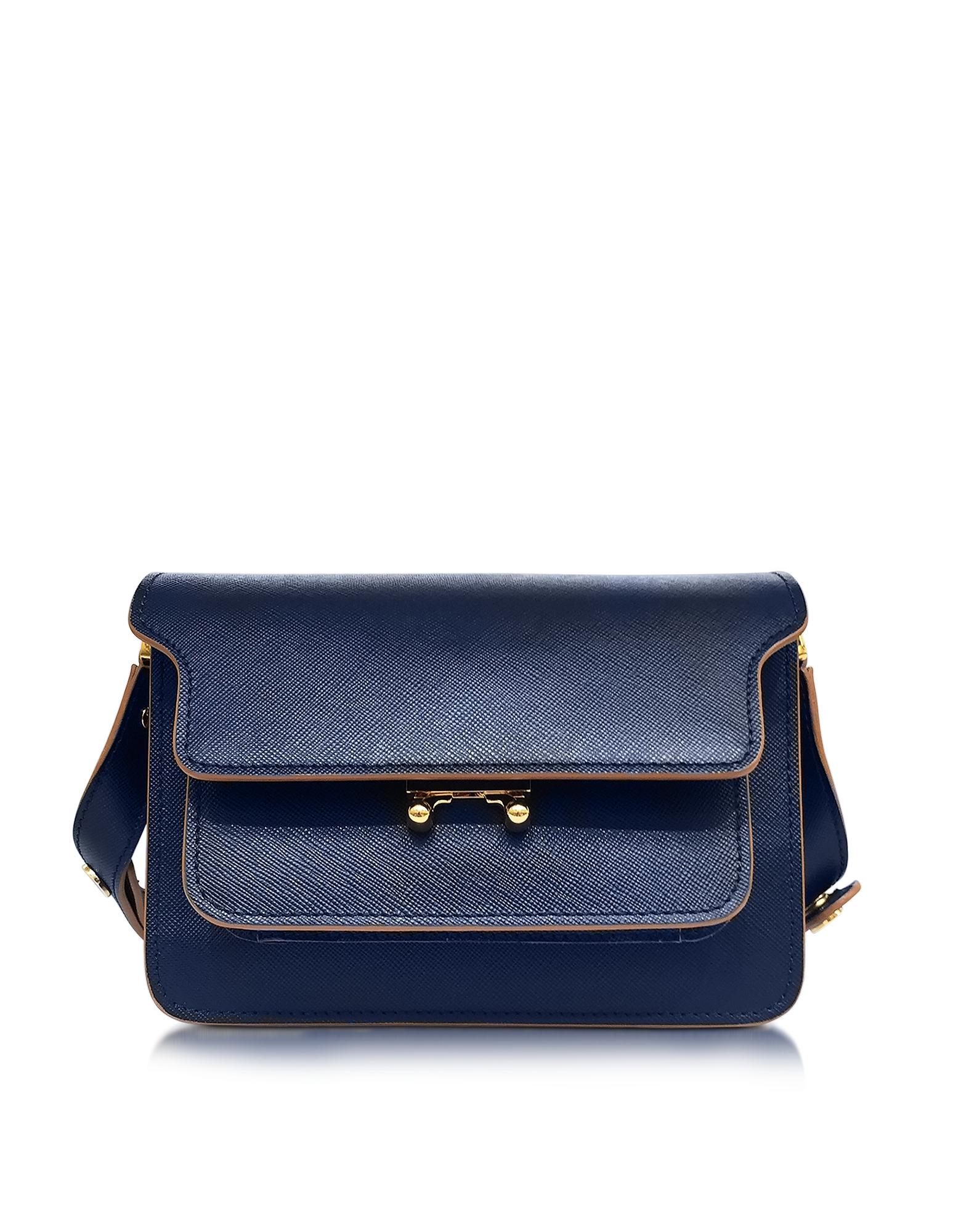 Фото Trunk Bag - Темно-Синяя из Сафьяновой Кожи. Купить с доставкой