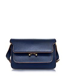 Night Blue Saffiano Leather Medium Trunk Bag - Marni