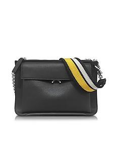 Black Leather Large Pocket Bandoleer Bag - Marni