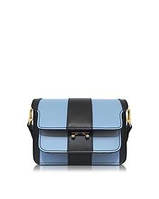 Iris Blue and Black Leather Mini Trunk Bag - Marni