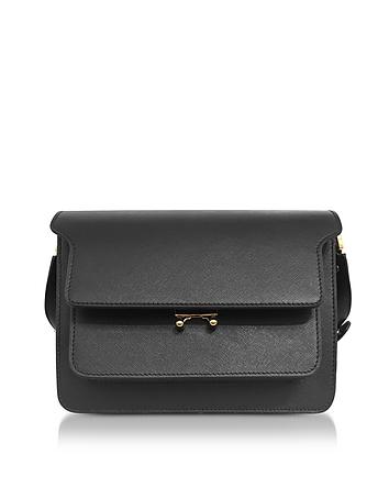 Marni Black Saffiano Leather Trunk Bag