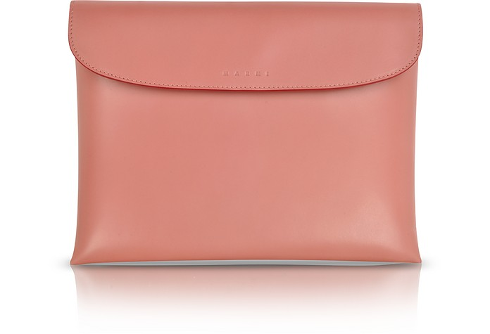Leather Pochette w/Wool Lining - Marni