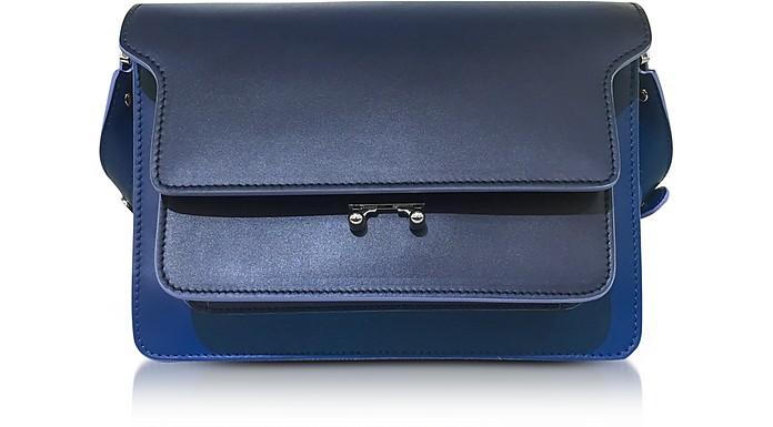 Eclipse Blue Leather Medium Trunk Bag  - Marni