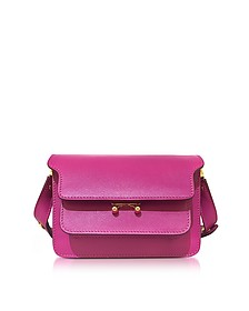 Cassis Saffiano Leather Mini Trunk Bag - Marni