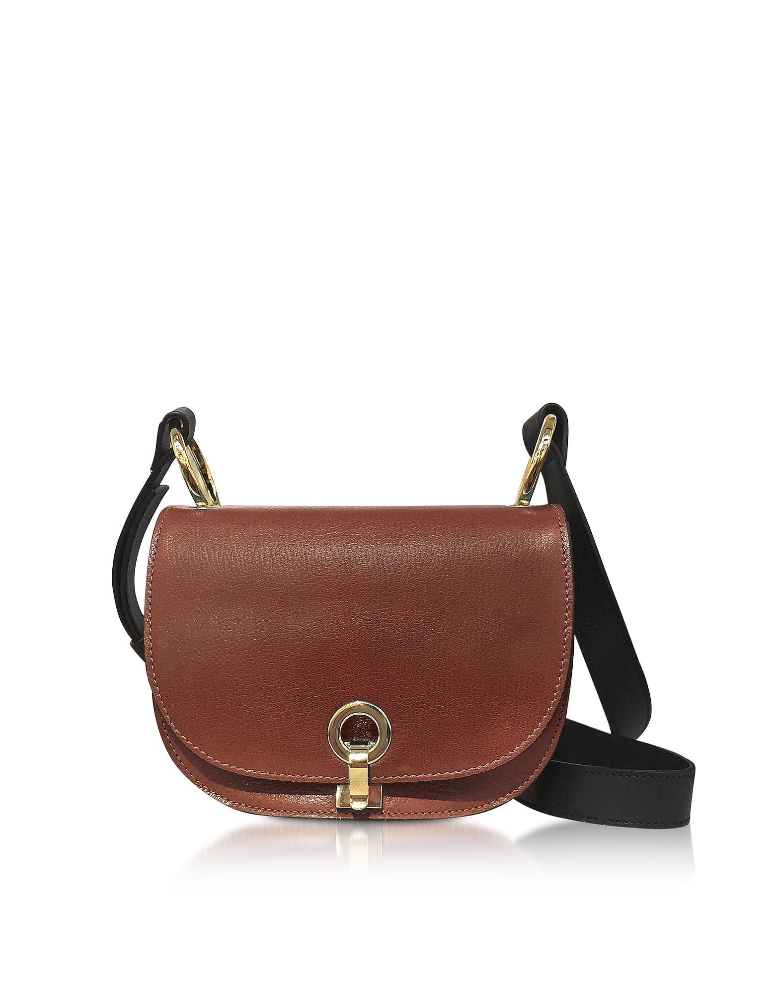 Marni Handbags, Brown and Gold Leather Minuet Shoulder bag