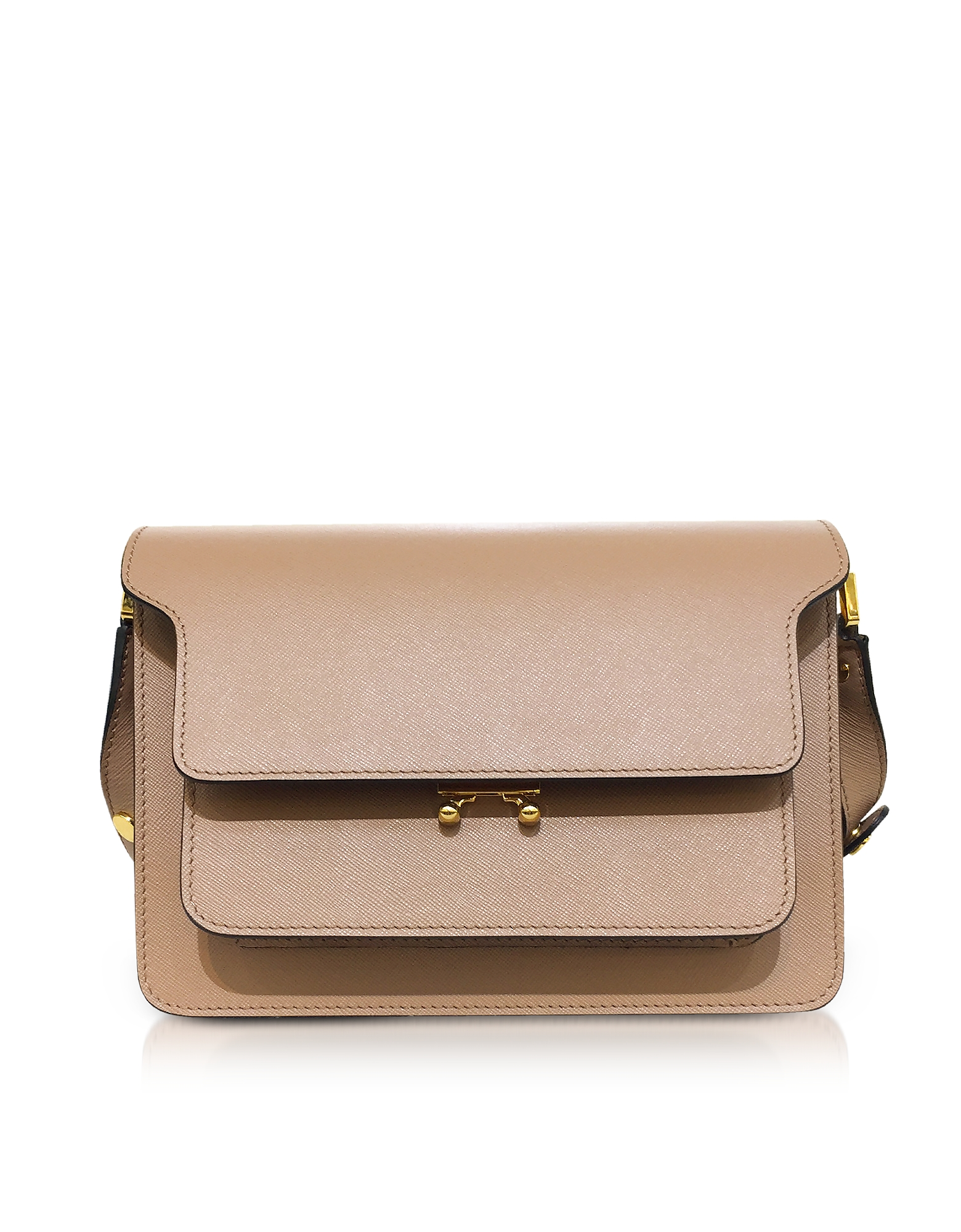 Marni Designer Handbags, Saffiano Leather Trunk Shoulder Bag