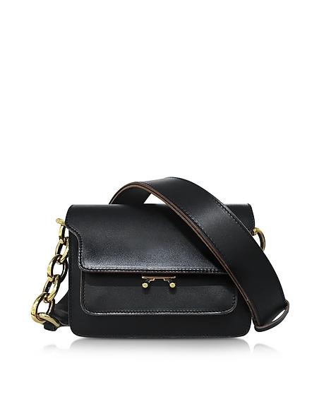 Foto Marni Mini Trunk Bag Borsa con Tracolla in Pelle nera Borse donna