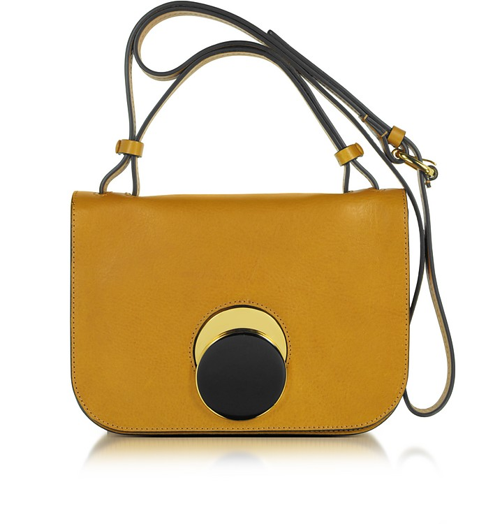 Honey Leather Pois Shoulder Bag - Marni