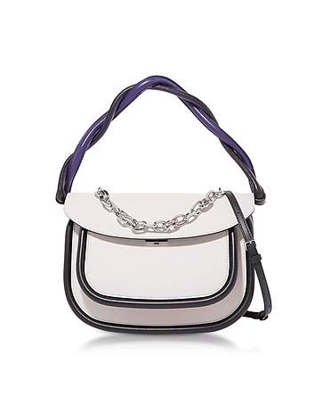 Glass White and Orange Leather Titan Bag