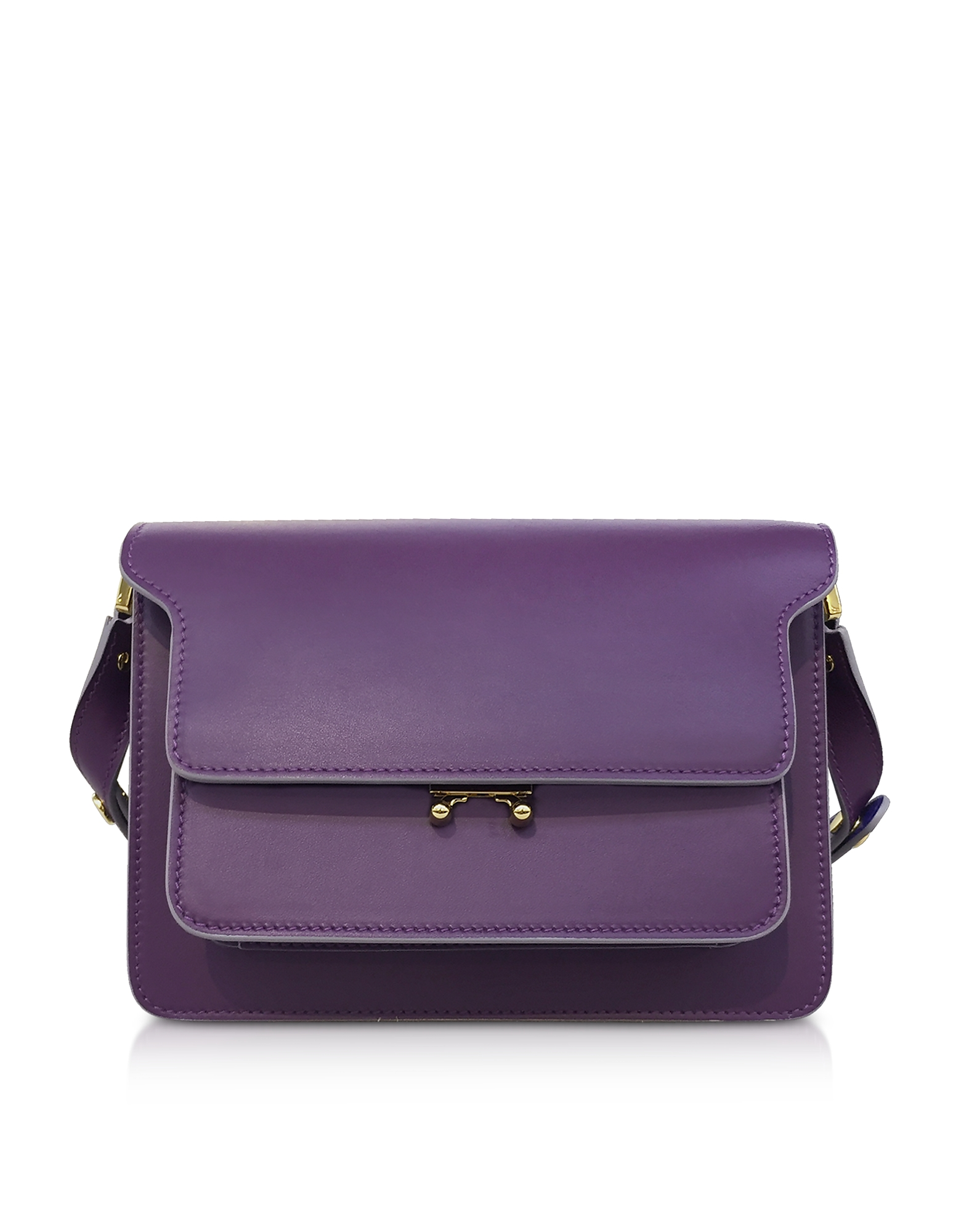 Image of Marni Designer Handbags, Calfskin Trunk Shoulder Bag