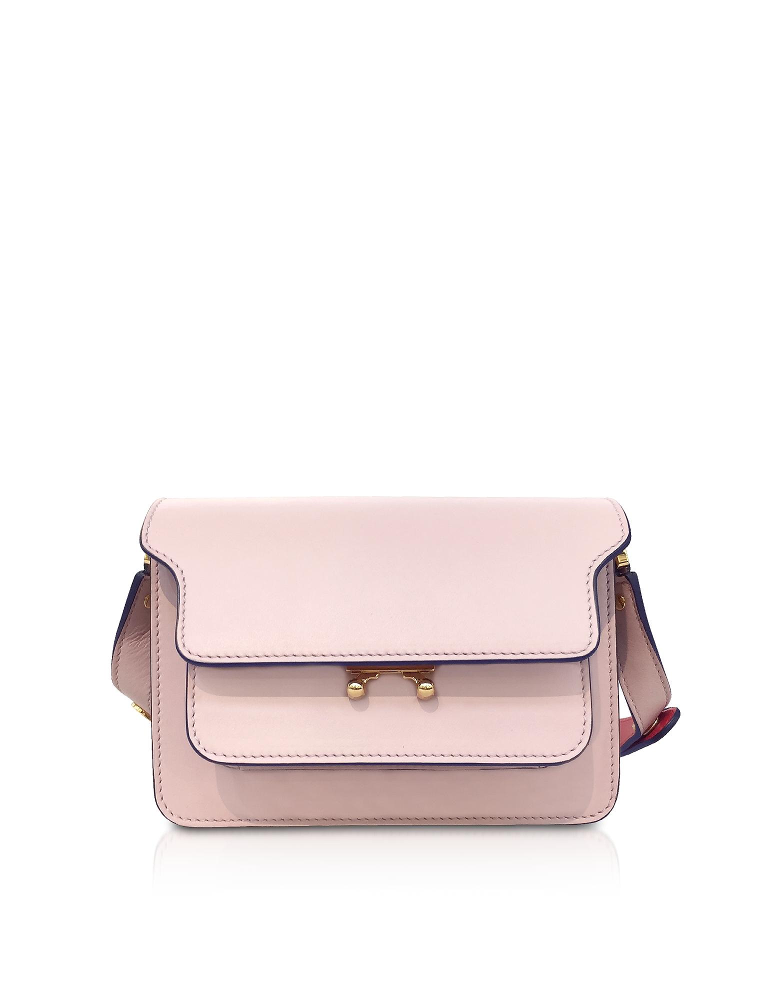 Leather Trunk Mini Shoulder Bag