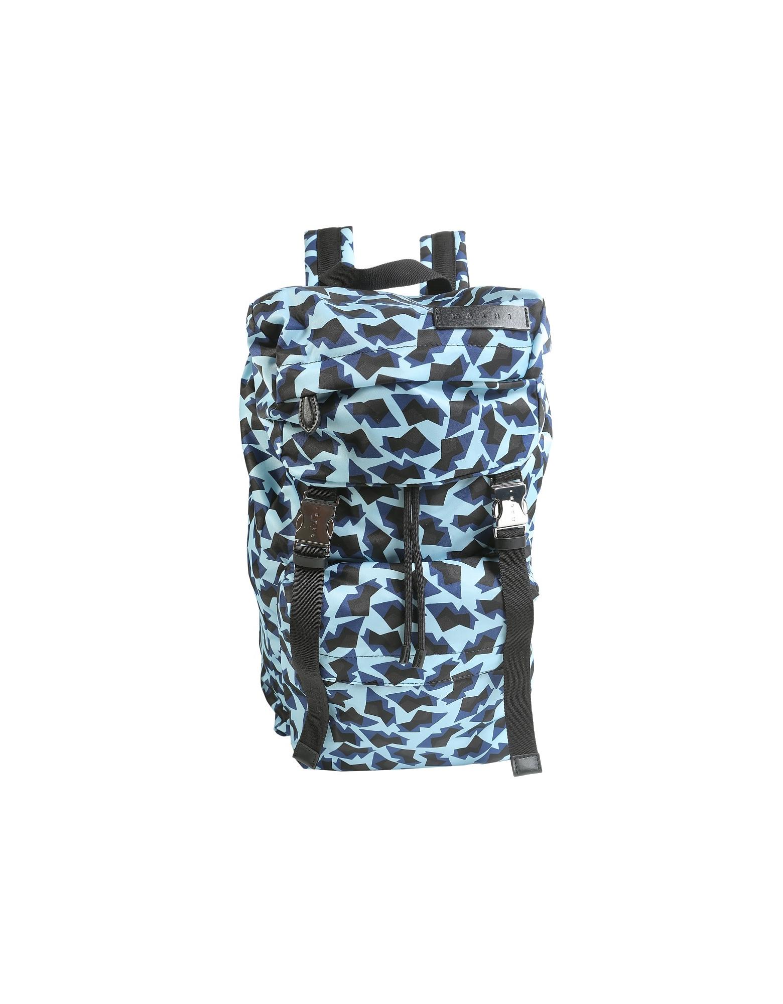 Marni Designer Men's Bags, Geometric Printed Backpack