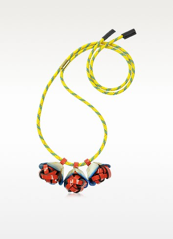 Horn and Leather Necklace - Marni