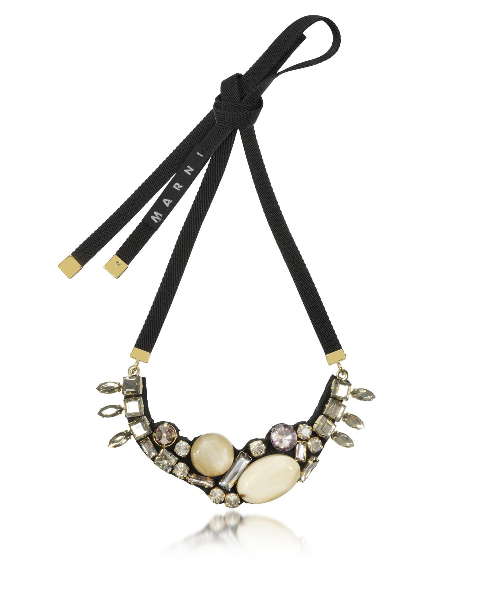 Pale Gold Strass Necklace - Marni