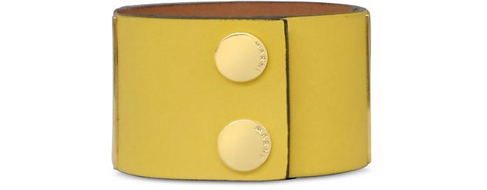 Bi-Colored Leather Cuff Bracelet - Marni