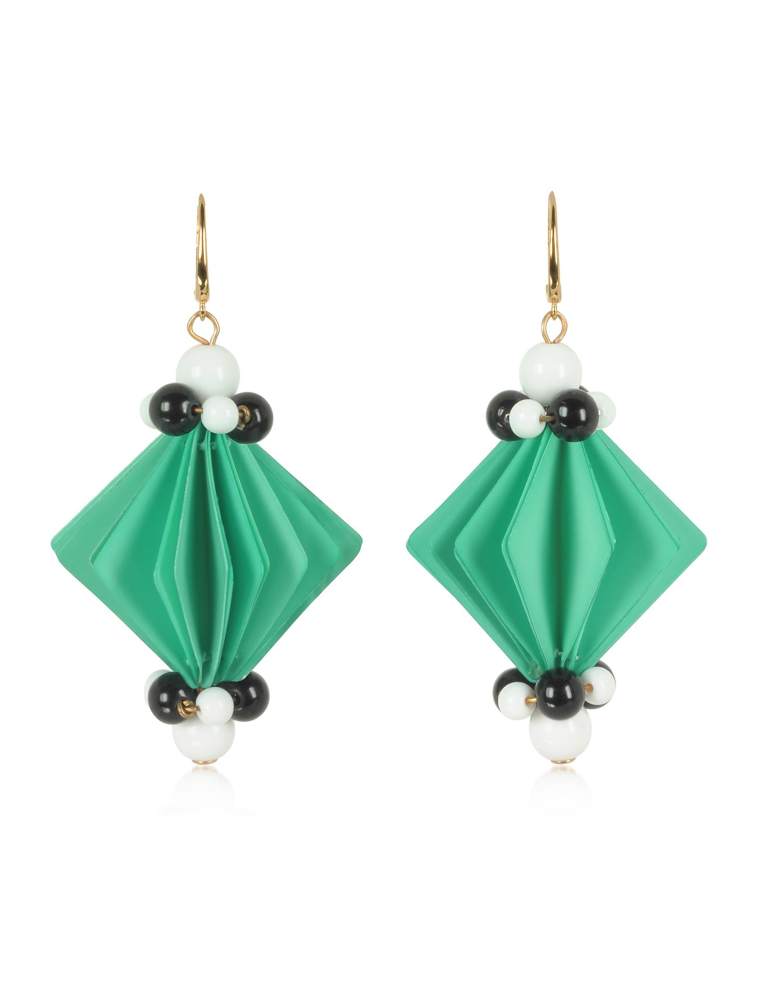 Plastic Earrings w/Beads