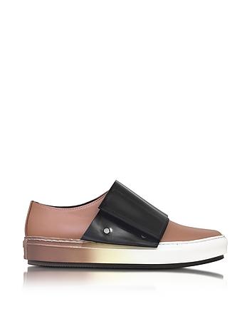 Cammeo Leather Sneaker w/Black Velcro Gaiter