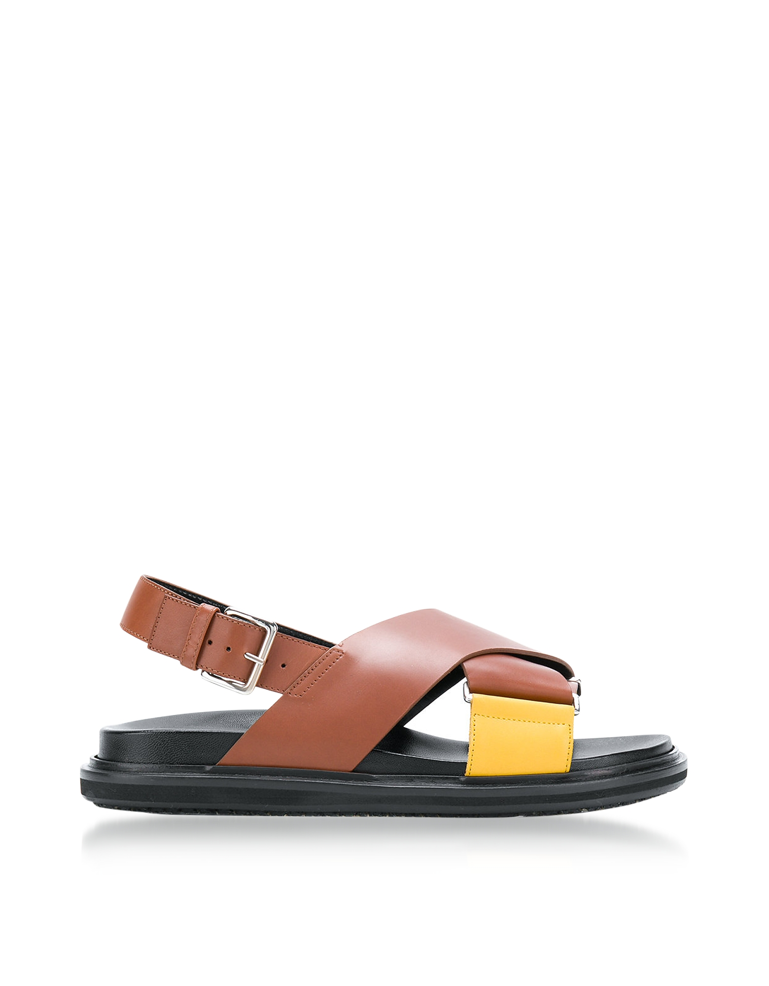 Marni Shoes, Lemon and Peanuts Leather Fussbett Sandals