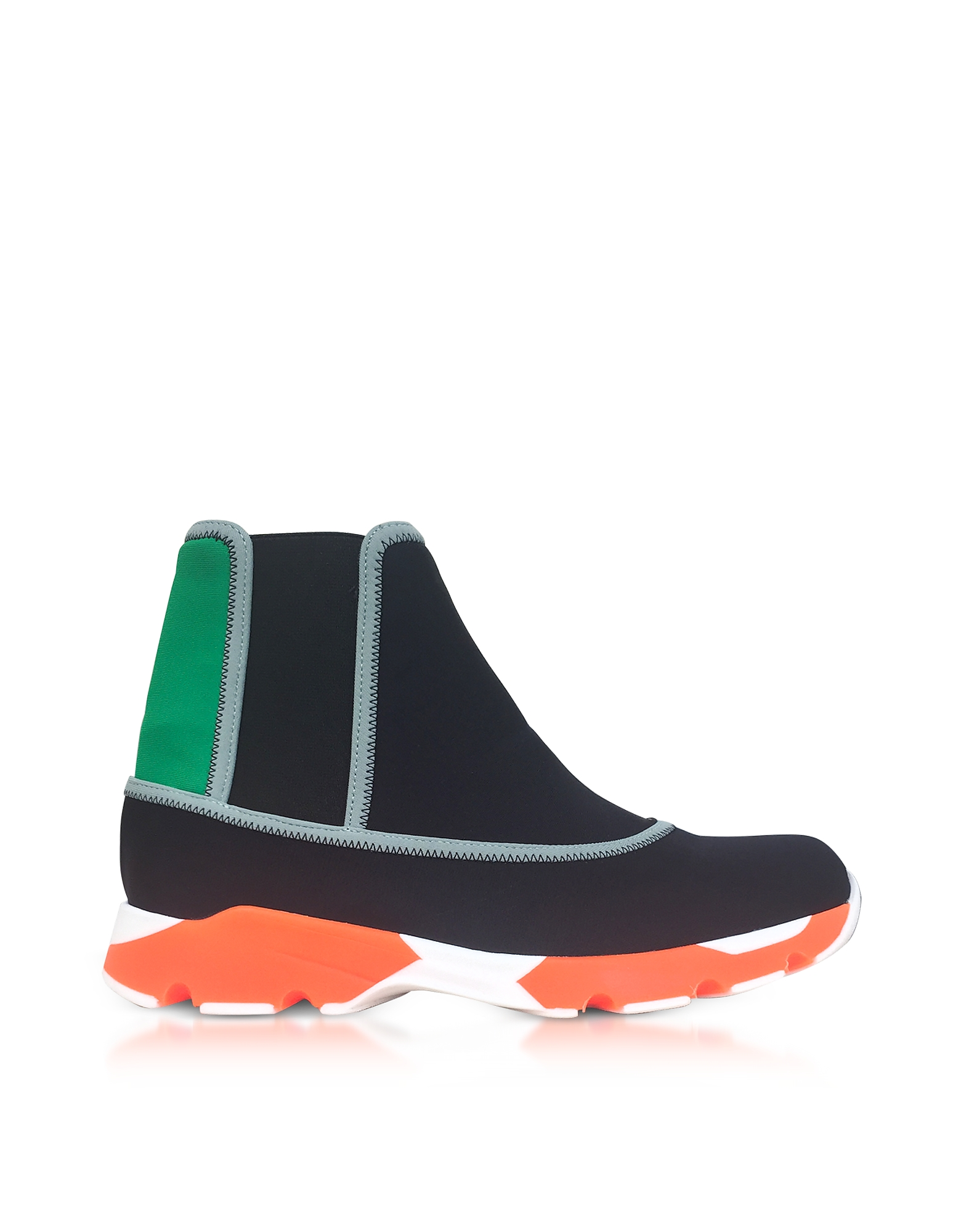 Marni Shoes, Black Neoprene High Top Sneakers