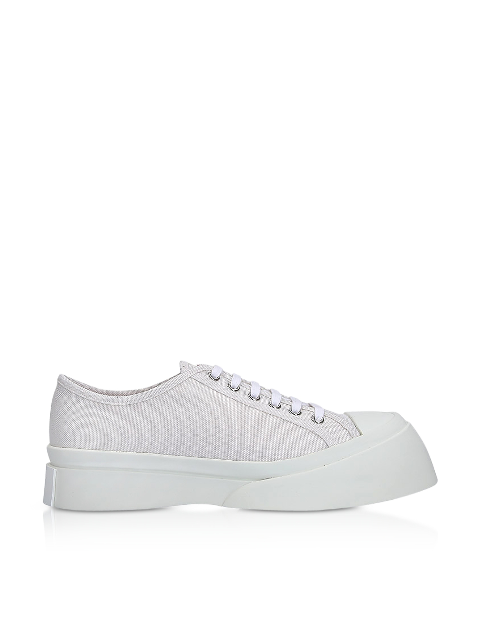 Marni Shoes, Lily White Canvas Sneakers