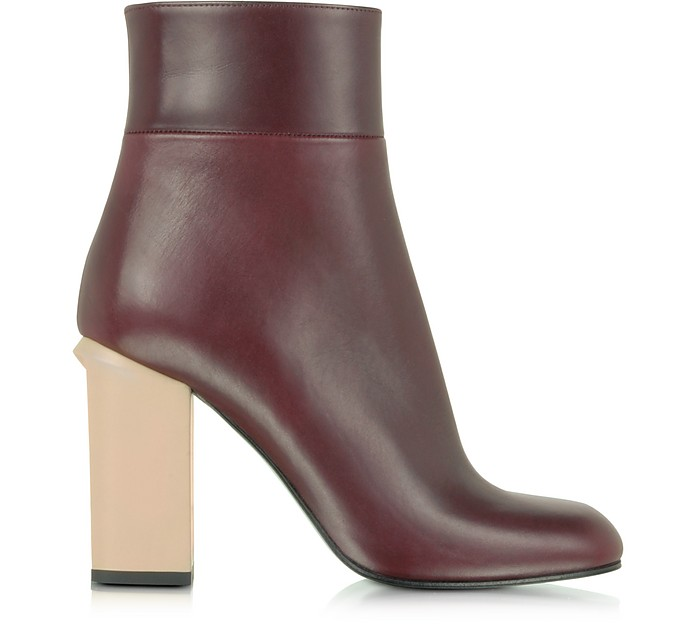 Bordeaux Leather Ankle Boot - Marni