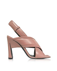 Camellia Leather High Heel Sandals - Marni