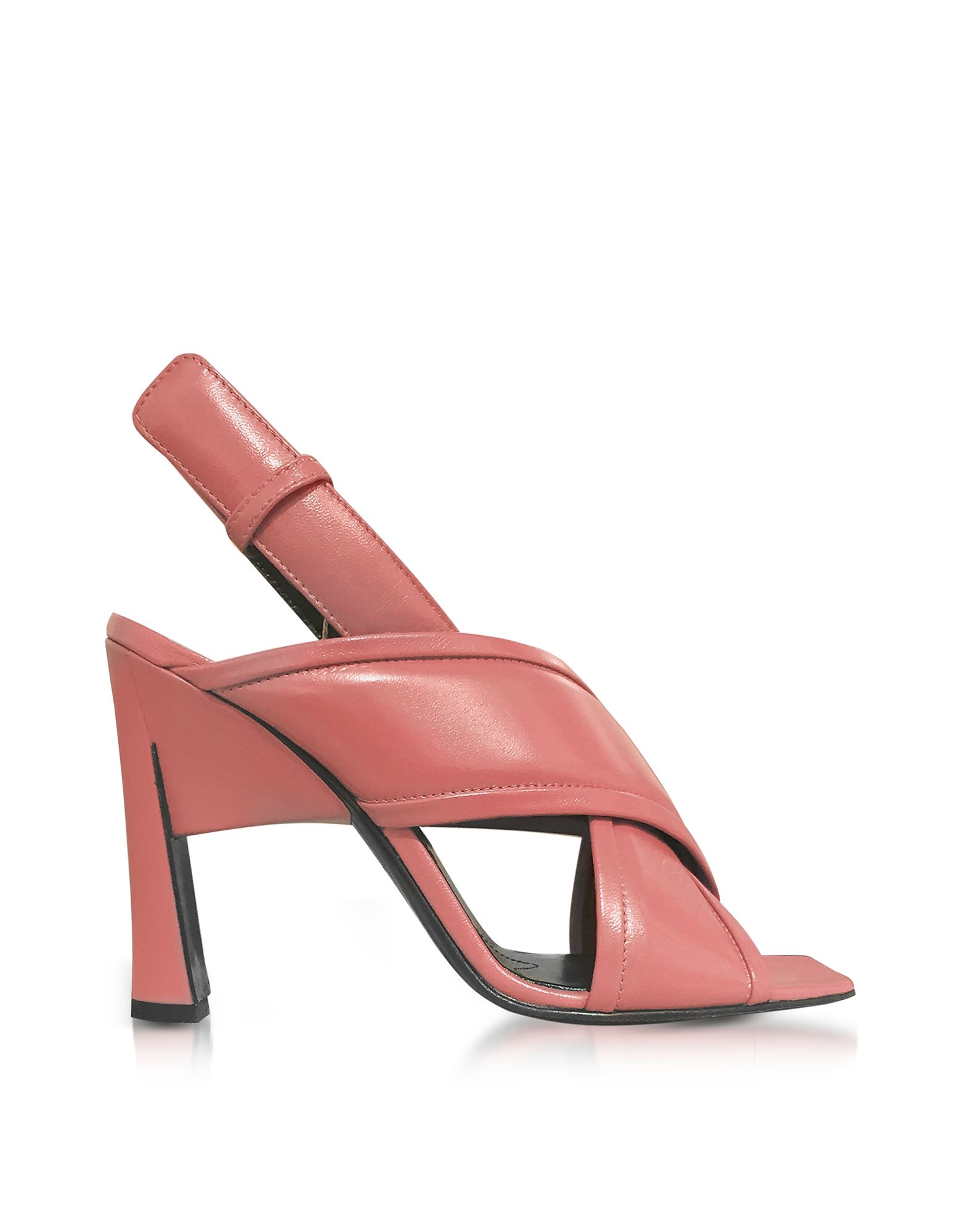 Marni Shoes, Camellia Leather High Heel Sandals