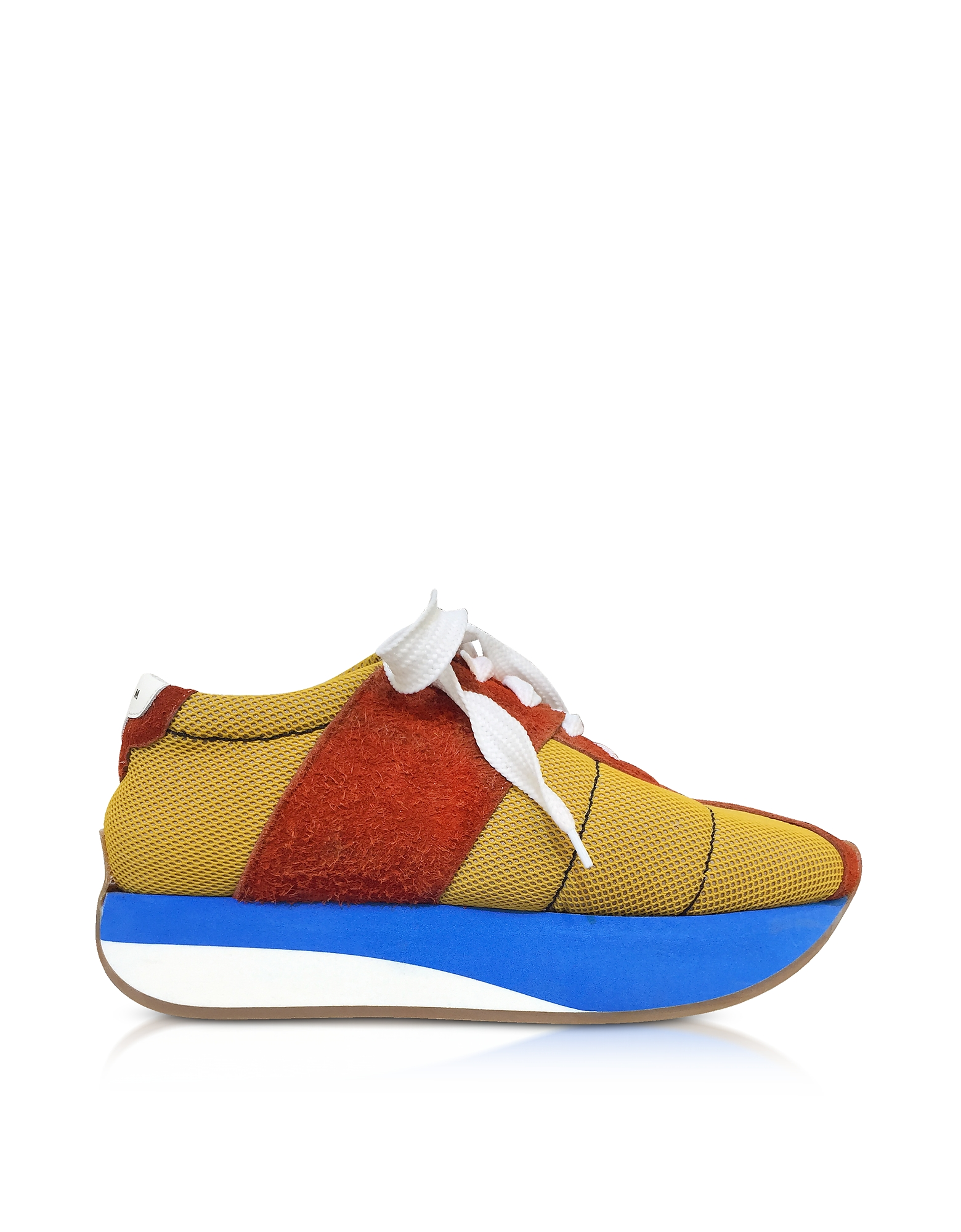 Marni Shoes, Ochre and Rust Tech Fabric Big Foot Sneakers