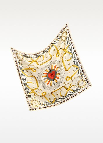 Tailored with Passion Silk Square Scarf - Moschino