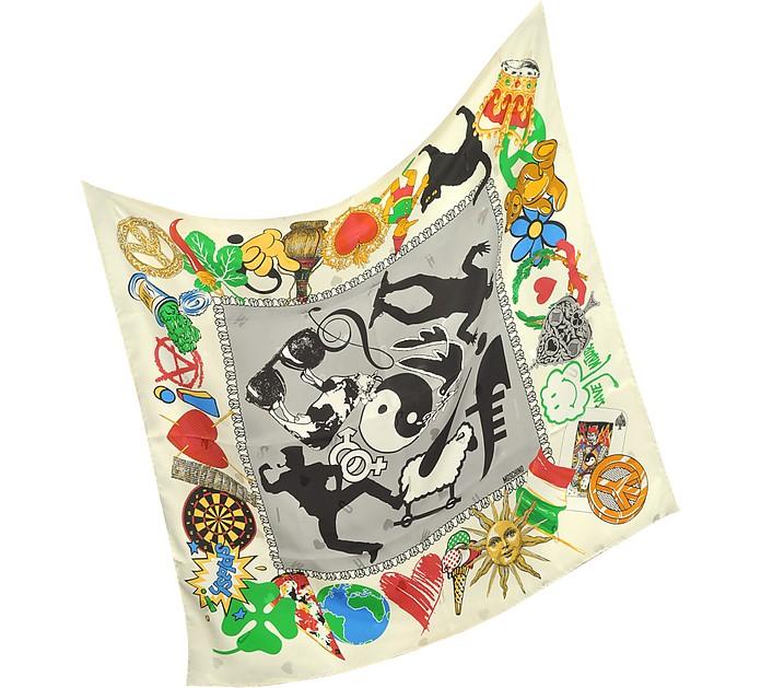 Save Nature Printed Silk Square Scarf - Moschino
