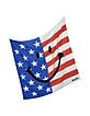 American Flag Printed Crepe Silk Square Scarf - Moschino