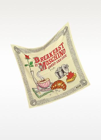 Cheap and Chic - Breakfast at Moschino Silk Bandana - Moschino