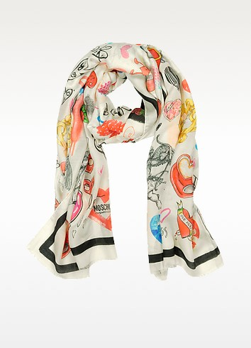 Cheap and Chic - Modal and Cashmere Print Stole - Moschino