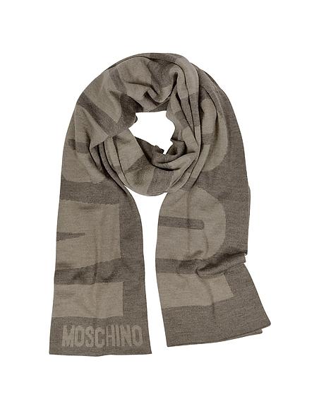 Foto Moschino Moschino Sciarpa in lana Melange con Logo Intessuto Sciarpe Uomo