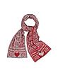 Scandinavian Pattern Knit Long Scarf - Moschino