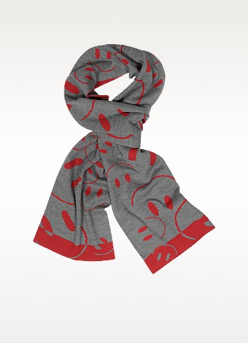 Smile Woven Wool Scarf - Moschino