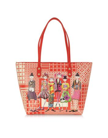 Tokyo Girls Charming Red Large Fabric Tote
