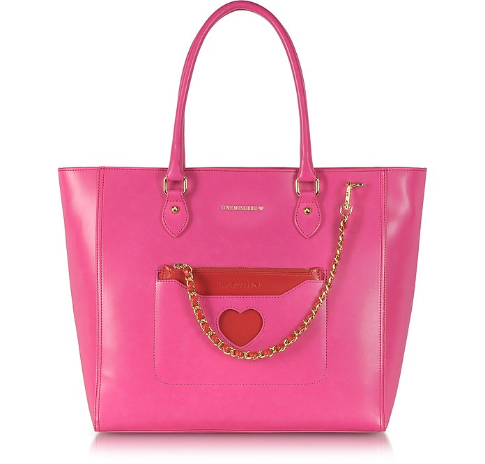Medium Fabric Tote - Moschino