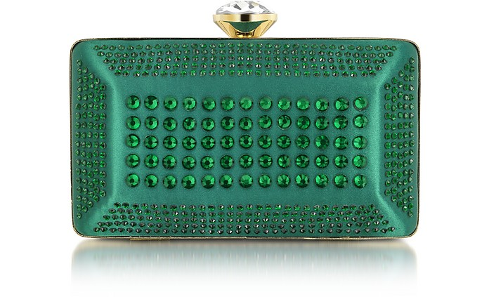 Strass and Satin Love Moschino Clutch - Moschino