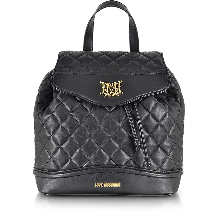 Love Moschino Quilted Eco Leather Backpack - Moschino