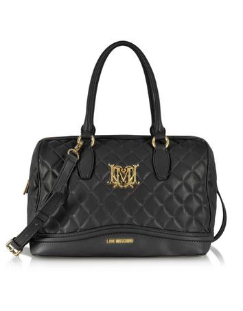 Love Moschino Quilted Eco Leather Satchel