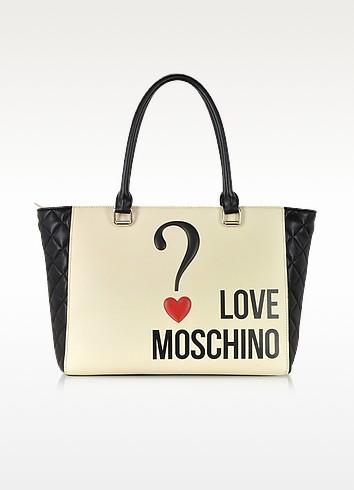 Love Moschino Color Block Eco Leather Shopper Tote - Moschino