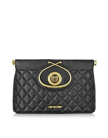 Love Moschino - Black Quilted Eco Leather Clutch