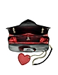 Large Black&Red Eco Leather Shoulder Strap w/Heart - Love Moschino