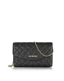 Evening Quilted Eco Leather Crossbody Bag - Love Moschino