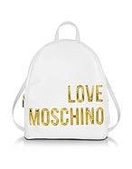 Love Moschino Zaino in Eco Pelle con Logo Oro - love moschino - it.forzieri.com