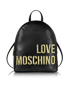 Eco Leather Backpack w/Signature Logo - Love Moschino