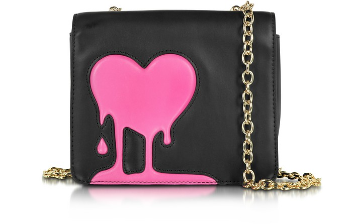 Melting Love Black & Pink Eco Leather Crossbody Bag - Love Moschino